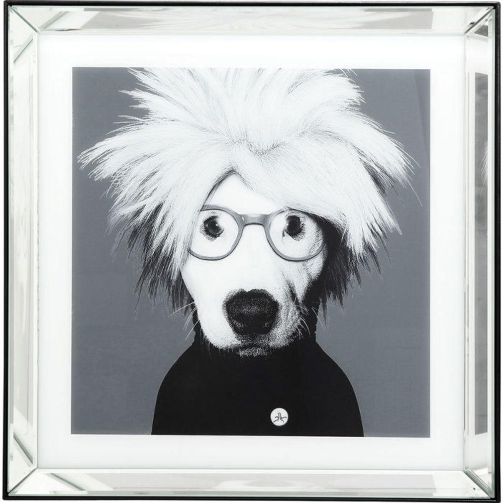 Picture Frame Artist Dog White-Black 60x60cm