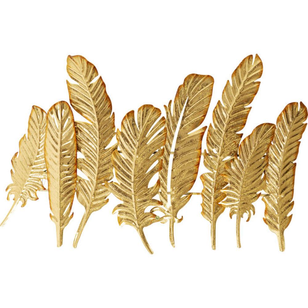Κρεμάστρα Τοίχου Leaf Μεταλλική Χρυσή 56x86x8 εκ.