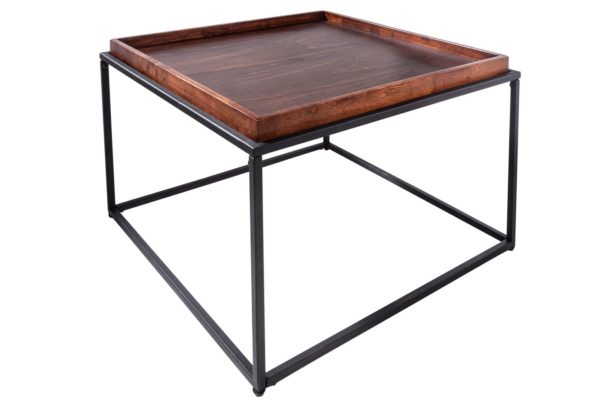 Coffee Table Elements Dark Brown-Black 60x60x40cm