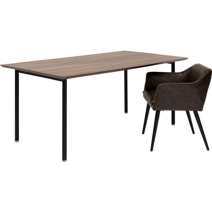 Table Ravello Brown-Black 160x80x76cm