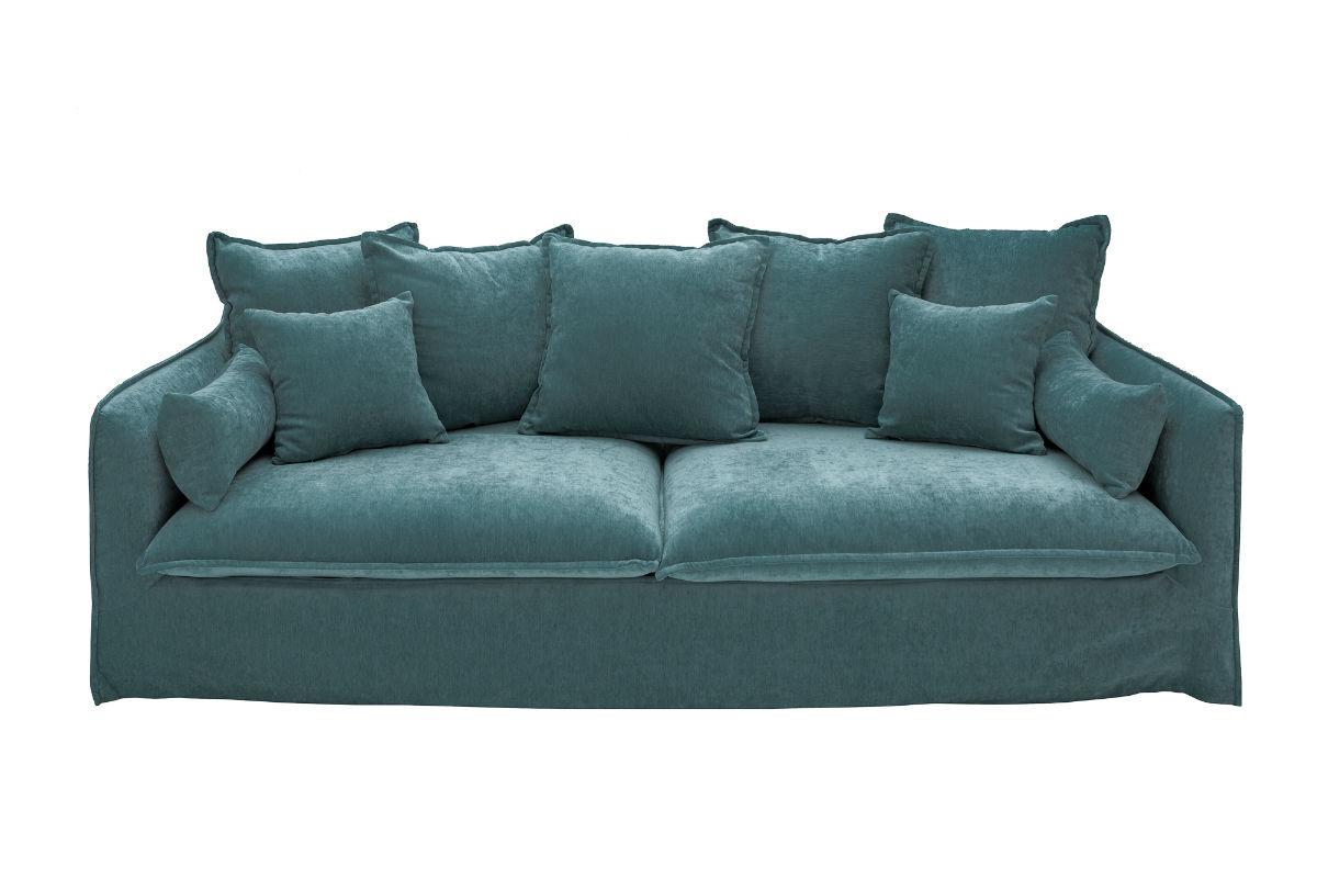 Καναπές Τριθέσιος Heaven Πράσινος 210x90x105 εκ.