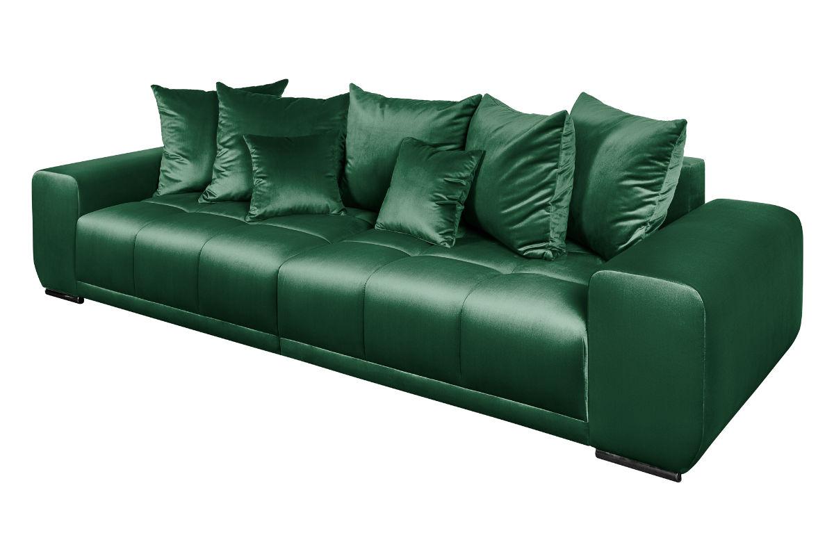 Τετραθέσιος Καναπές Elegancia Πράσινος 280x90x104 εκ.