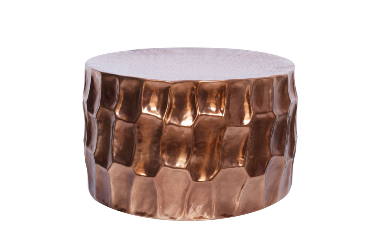 Coffee Table Organic Orient Metal Copper 70x40x70cm