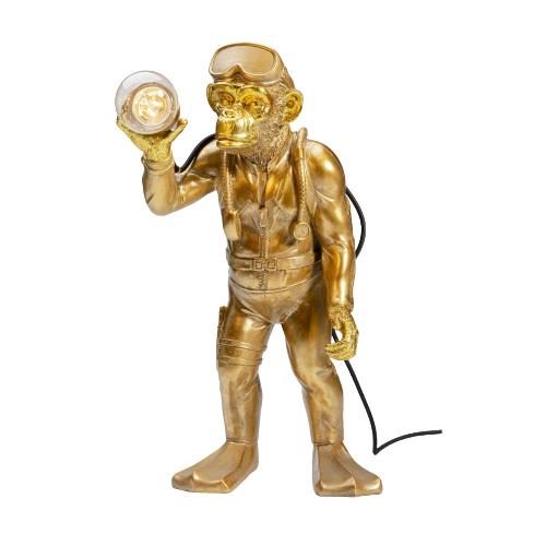 Table Lamp Monkey Diver Gold-Bronze 31cm