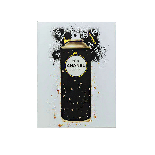 Glass Picture Coco Spray Black-Gold 60x80cm