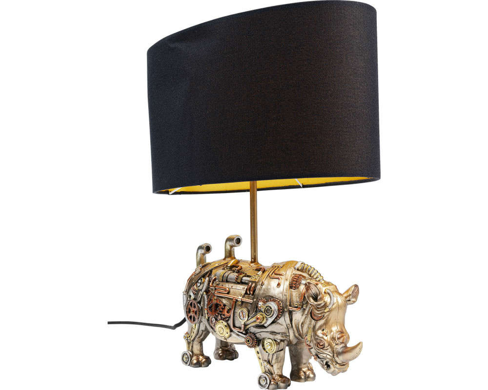 Table Lamp Rhino With Gears Bronze-Gold 35cm