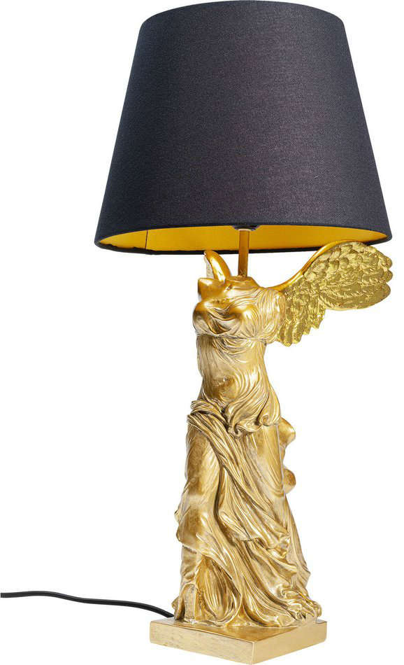 Table Lamp Statue of Nike Gold 35cm