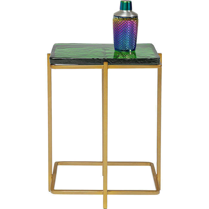 Side Table Lagoon Green-Gold 36.5x24.5x50cm