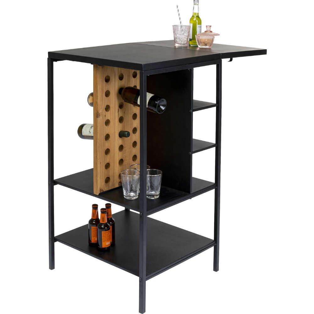 Bar Cabinet Binasco Black-Brown 93x56cm