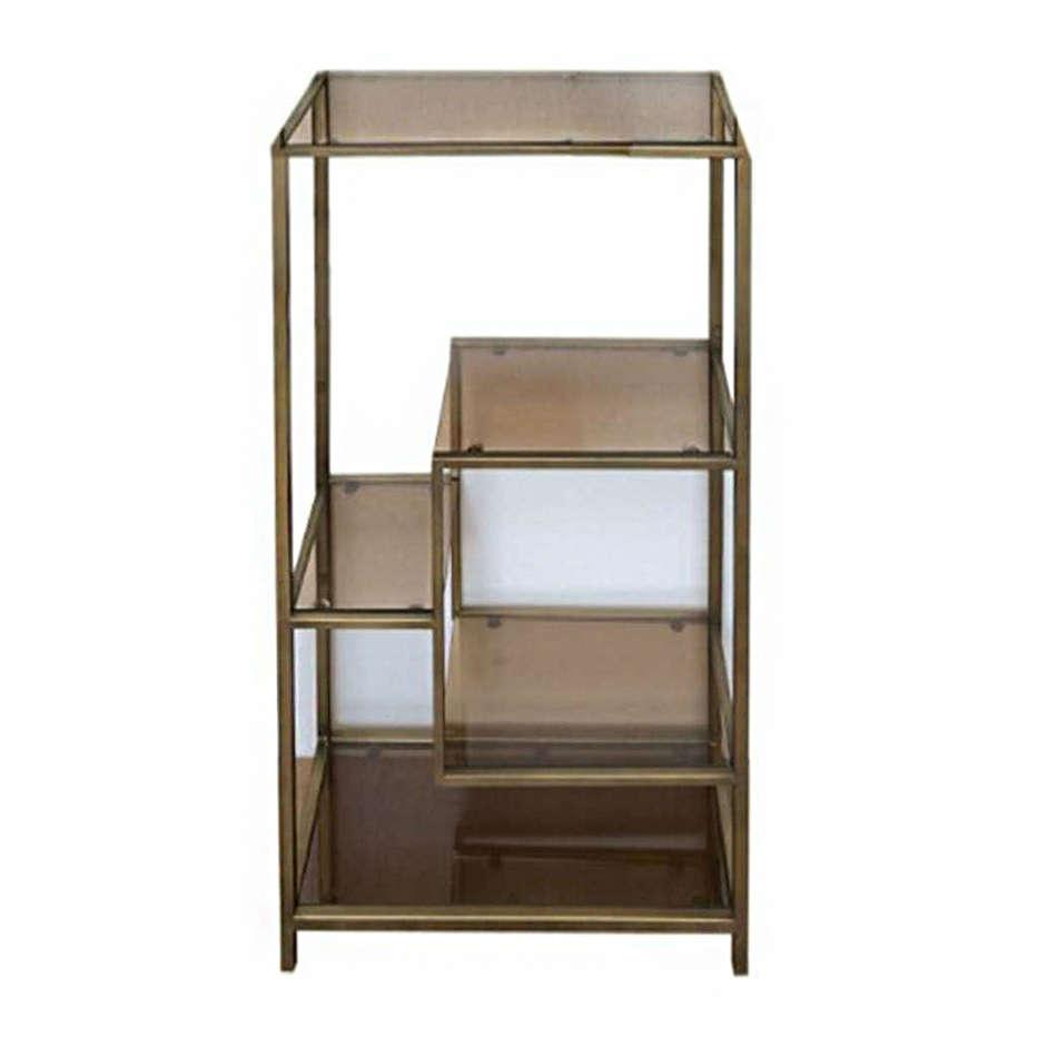 Shelf Loft Glass-Metal Gold-Bronze 60x100cm