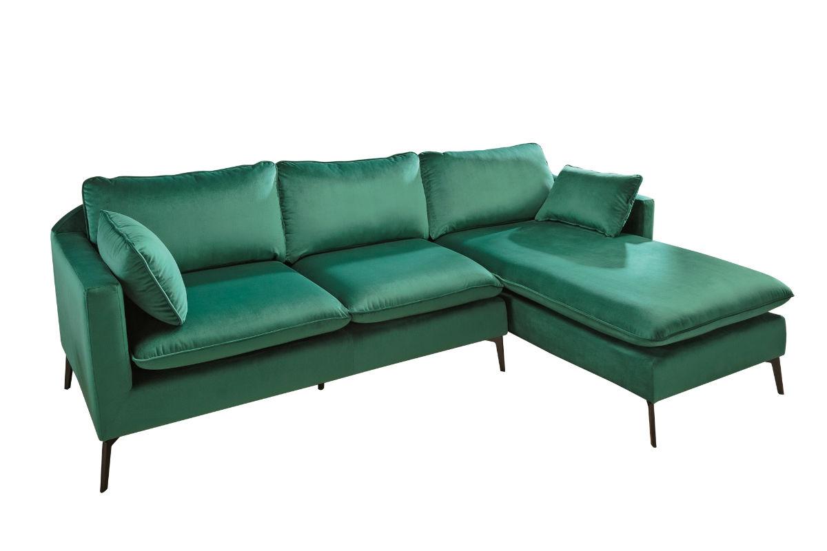 Γωνιακός Καναπές Famous Πράσινος 260x93x85 εκ.