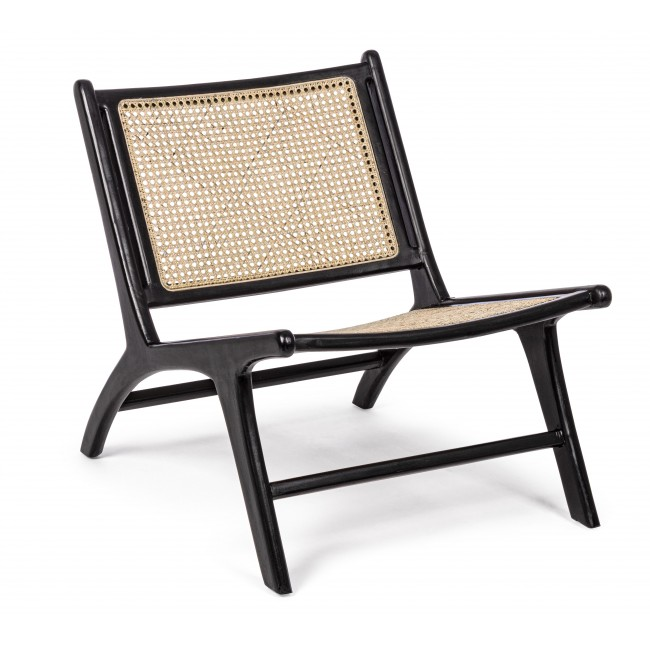Chair Mabel Black-Beige