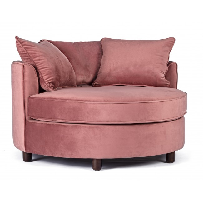 Πολυθρόνα Alistair Velvet Daybed Ροζ