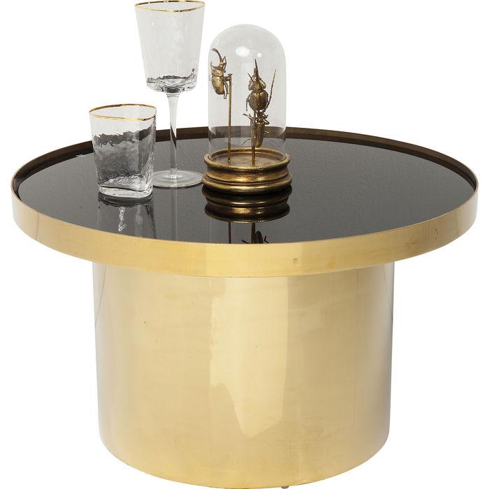 Τραπέζι Γυάλινο Μέσης Rimini Χρυσό