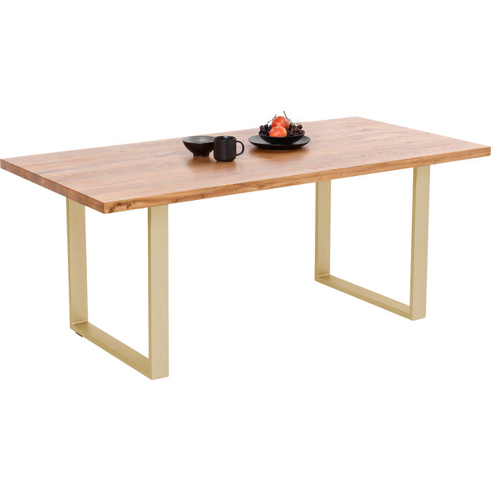 Τραπέζι Jackie Oak Brass Χρυσό 200x100 εκ.