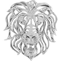 Wall Decoration Lion Silver 47x42x24cm (PL)