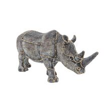 Table Decorative Rhino With Pearls Grey 18cm