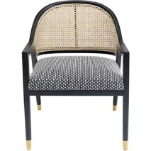 Chair With Armrests Horizon Black-Brown