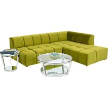 Corner Sofa Belami Right Green 265x210cm