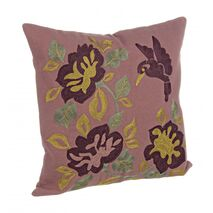 Cushion Agnese Flowers Pink-Yellow 40x40cm