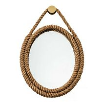 Wall Mirror With Rope Seven Seas Brown 43x56cm