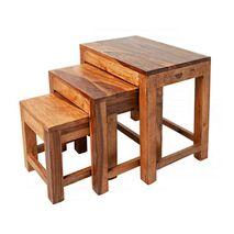 Side Tables Monsoon Brown (Set 3)