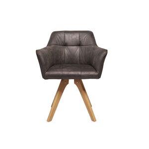 Καρέκλα Με Μπράτσα Loft Γκρι ύφασμα