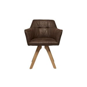 Καρέκλα Με Μπράτσα Loft Καφέ ύφασμα