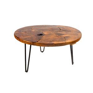 Τραπέζι Μέσης Mosaik Μαύρο-Καφέ Ξύλο-Μέταλλο