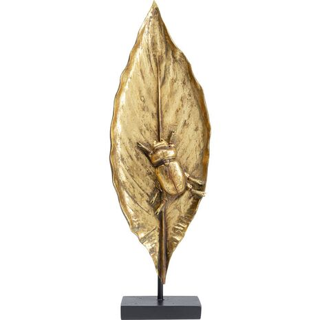 Decorative Beetle On Leaf Gold 57x18x10cm (PL)