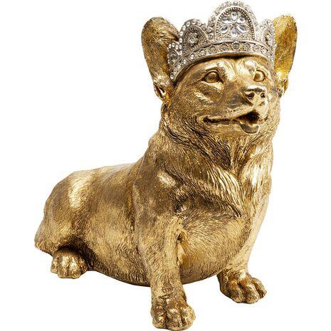 Επιτραπέζιο Διακοσμητικό Καθιστός Σκύλος Corgi Χρυσό 45x23x37 εκ.