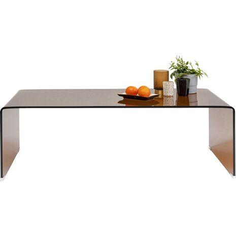 Τραπέζι Μέσης Visible Amber Γυαλί Καφέ 120x60x40 εκ.