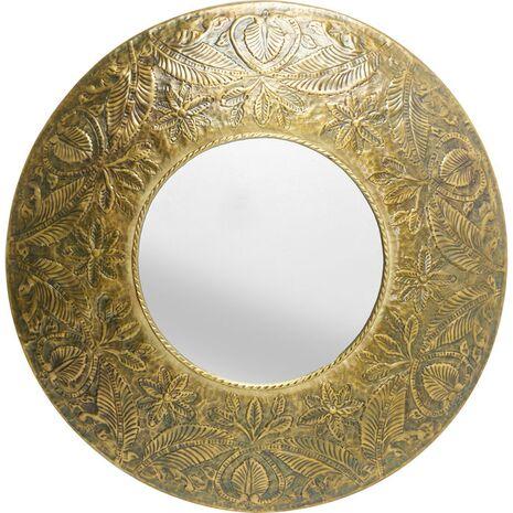 Καθρέφτης Τοίχου Victoria Χρυσό 110x110x13 εκ.